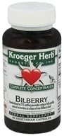 Kroeger Herbs - Complete Concentrate Bilberry 50 mg. - 90 Vegetarian Capsules, from category: Herbs