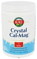 Kal - Crystal Cal-Mag Easy-Dissolve Calcium Drink Mix Unflavored - 9.5 oz.