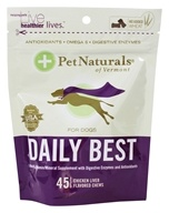 Pet Naturals of Vermont - Daily Best for Dogs Soft Chews Chicken Liver Flavored - 45 Chewables (026664886347)