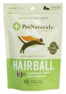Image of Pet Naturals of Vermont - Hairball Soft Chews For Cats Chicken Liver Flavored - 45 Chewables