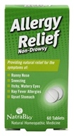 NatraBio - Allergy Relief - 60 Tablets, from category: Homeopathy