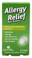 Image of NatraBio - Allergy Relief - 60 Tablets