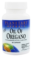 Planetary Herbals - Oil of Oregano (Standardized to 70% Carvacrol) - 60 Vegetarian Capsules Formerly Planetary Formulas - $12.20