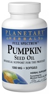 Image of Planetary Herbals - Pumpkin Seed Oil Full Spectrum 1000 mg. - 45 Softgels Formerly Planetary Formulas