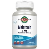 Kal - Melatonin Sustained Release 3 mg. - 120 Tablets