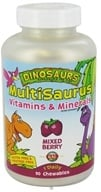 Kal - Dinosaurs Multisaurus Vitamins & Minerals Mixed Berry - 90 Chewable Tablets by Kal