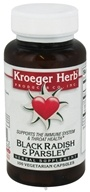 Kroeger Herbs - Herbal Combination Black Radish & Parsley - 100 Capsules (696916100042)