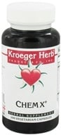 Kroeger Herbs - Chem X - 100 Vegetarian Capsules CLEARANCED PRICED - $7