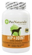 Pet Naturals of Vermont - Hip & Joint For Dogs Extra Strength Chicken Liver Flavored - 60 Chewable Tablets (026664852366)