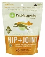 Pet Naturals of Vermont - Hip & Joint Advanced Formula Soft Chews For Medium-Large Dogs Chicken Liver Flavored - 45 Chewables