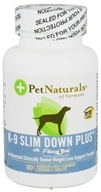 Pet Naturals of Vermont - K-9 Slim Down Plus with Phase 2 Pet Chicken Liver Flavored - 60 Chewable Tablets Contains White Kidney Bean Extract