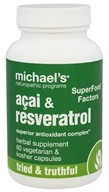 Image of Michael's Naturopathic Programs - SuperFood Factors Acai & Resveratrol - 60 Vegetarian Capsules