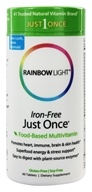 Rainbow Light - Just Once Multivitamin Iron-Free - 60 Tablets, from category: Vitamins & Minerals