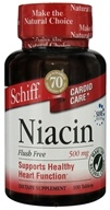 Schiff - Cardio Care Niacin Flush-Free 500 mg. - 100 Tablets (020525125217)