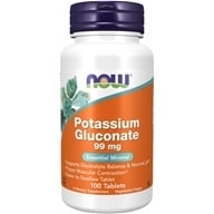 NOW Foods - Potassium Gluconate, Vegetarian 99 mg. - 100 Tablets