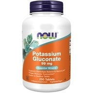 NOW Foods - Potassium Gluconate 99 mg. - 250 Tablets - $7.49