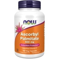 NOW Foods - Ascorbyl Palmitate 500 mg. - 100 Vegetarian Capsules (733739006080)