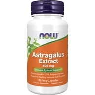 NOW Foods - Astragalus Extract 500 mg. - 90 Vegetarian Capsules - $8.99