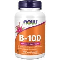 NOW Foods - B-100 Complex - 100 Capsules, from category: Vitamins & Minerals