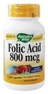 Nature's Way - Folic Acid 800 mcg. - 100 Capsules - $3.50