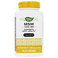 Nature's Way - MSM 1000 mg. - 200 Tablets, from category: Nutritional Supplements