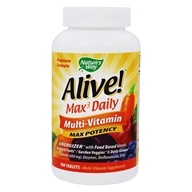 Image of Nature's Way - Alive Multi-Vitamin Whole Food Energizer Max Potency - 180 Tablets