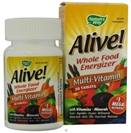 Nature's Way - Alive Multi-Vitamin Whole Food Energizer - 30 Tablets CLEARANCE PRICED