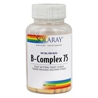 Image of Solaray - B-Complex 75 - 100 Capsules