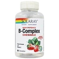 Solaray - B-Complex Chewable Strawberry Kiwi Flavor - 50 Chewable Wafers by Solaray