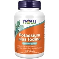 NOW Foods - Potassium Plus Iodine - 180 Tablets, from category: Vitamins & Minerals