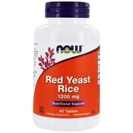 NOW Foods - Red Rice Yeast Extract 1200 mg. - 60 Tablets, from category: Nutritional Supplements