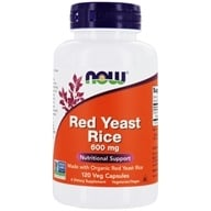 Image of NOW Foods - Red Rice Yeast 600 mg. - 120 Vegetarian Capsules (formerly Extract)