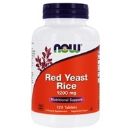 NOW Foods - Red Yeast Rice 1200 mg. - 120 Tablets (733739035035)