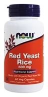 NOW Foods - Red Yeast Rice 600 mg. - 60 Vegetarian Capsules by NOW Foods