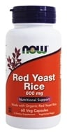 Image of NOW Foods - Red Yeast Rice 600 mg. - 60 Vegetarian Capsules