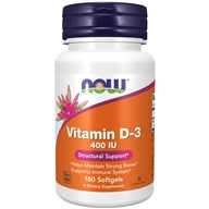 Image of NOW Foods - Vitamin D 400 IU - 180 Softgels