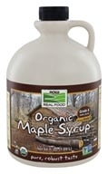 Image of NOW Foods - Maple Syrup - Certified Organic - 100% Pure - Grade B - 64 oz.