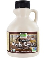 Image of NOW Foods - Maple Syrup - Certified Organic - 100% Pure - Grade B - 16 oz.