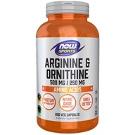 NOW Foods - Arginine & Orthinine 500/250 mg - 250 Capsules by NOW Foods