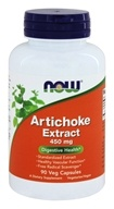 NOW Foods - Artichoke Extract 450 mg. - 90 Vegetarian Capsules - $9.09