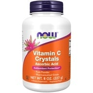 Image of NOW Foods - Vitamin C Crystals Ascorbic Acid 100% Pure Powder - 8 oz.