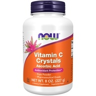 NOW Foods - Vitamin C Crystals Ascorbic Acid 100% Pure Powder - 8 oz. - $7.75