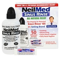 Sinus rinçage Kit de secours tout naturel - 50 Premixed Packets by NeilMed Pharmaceuticals