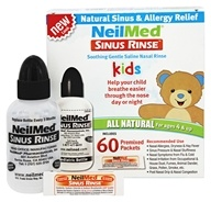Sinus rinçage enfants tout kit naturel - 60 Premixed Packets by NeilMed Pharmaceuticals