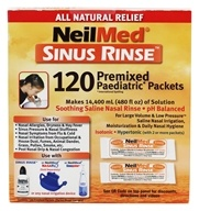 Sinus Rinse Premixed Pediatric Packets - 120 Premixed Packets by NeilMed Pharmaceuticals