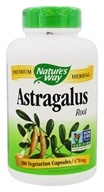 Nature's Way - Astragalus Root 470 mg. - 180 Vegetarian Capsules by Nature's Way