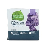 Seventh Generation - Chlorine Free Ultra-thin Pads with Wings Overnight 14 pack (732913450039)