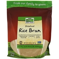 Image of NOW Foods - Rice Bran - 20 oz.