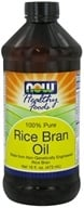 NOW Foods - Rice Bran Oil - 100% Pure - 16 oz. DAILY DEAL