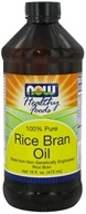 Image of NOW Foods - Rice Bran Oil - 100% Pure - 16 oz. DAILY DEAL